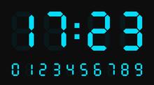Digital Led Numbers. Electroni...
