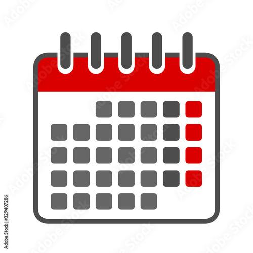 kalendarz ikona Tablou Canvas