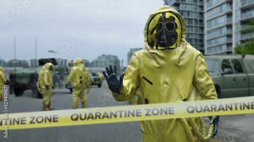 Obraz Quarantine Zone - fototapety do salonu