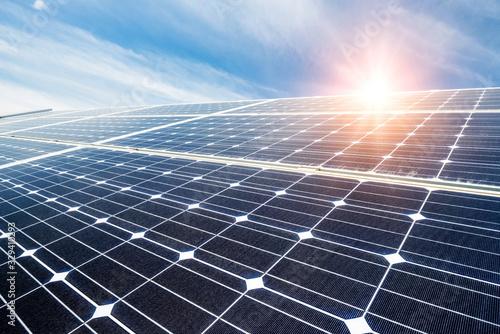Valokuva Solar panel, photovoltaic, alternative electricity source - concept of sustainab
