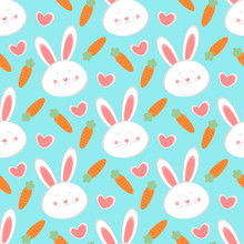 Seamless Easter Pattern And Ba...
