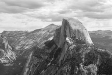 Black And White Half Dome Yose...