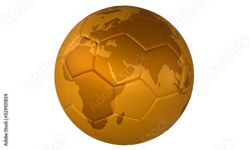 3d Golden football #329431834