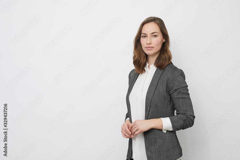 Fototapeta Portrait of beautyful and confident business woman