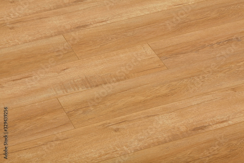 Fototapeta Wooden natural texture. New parquet blank. Wooden laminate floor boards background image. Home decor. obraz na płótnie
