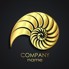 Golden Shell Spiral Logo