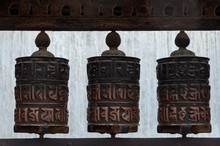 Prayer Wheel At The Buddhist T...