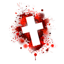 Cross From Blood Stains. Happy...