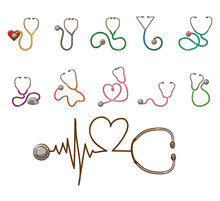 Stethoscope Vector Set Collect...