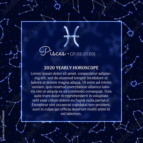 Pisces astrology horoscope prediction banner Tapéta, Fotótapéta