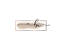 Letter BO Handwrititing Logo With A Beautiful Template