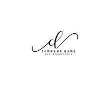 Letter CL Handwrititing Logo W...