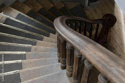 Beautiful Wood on Old Banister Canvas Print