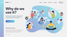 Social Media Network. Connecte...