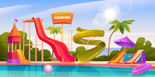 Aqua Park With Water Slides, S...