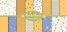 Bee Seamless Pattern Collectio...