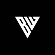 BW Logo Letter Monogram With Triangle Shape Design Template