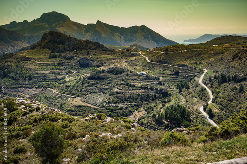 mountains landscape and coast view, Spain Wallpaper Mural
