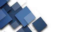 Abstract Blue Squares Design B...