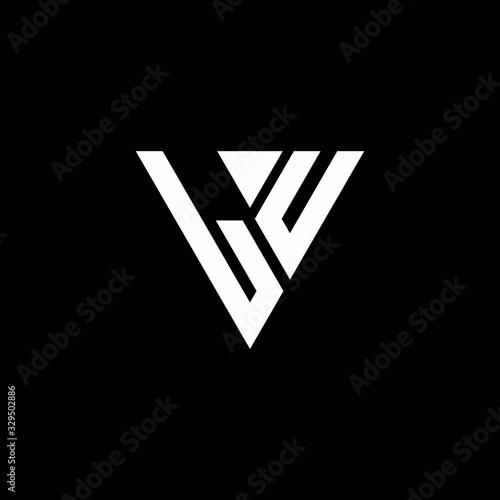 LU Logo letter monogram with triangle shape design template Fototapete