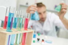Colorful Rows Of Laboratory Te...