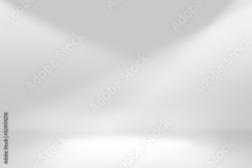 Obraz Abstract studio background gradient silver gray wall - fototapety do salonu