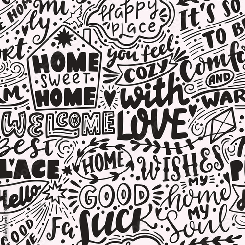 vector-seamless-pattern-with-home-handwritten-letterings-and-symbols-hand-drawn-backgroun