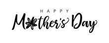 Happy Mother's Day Calligraphy. Monochrome Banner. Mothers Day Sale Decoration, Shopping Special Offer Poster. Best Mom Ever Congratulation In Brushing Style. Isolated Abstract Graphic Design Template