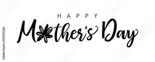 Valokuvatapetti Happy Mother's Day calligraphy