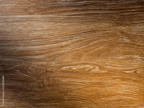 Empty wooden table background texture with light and shadow on surface Canvas Print