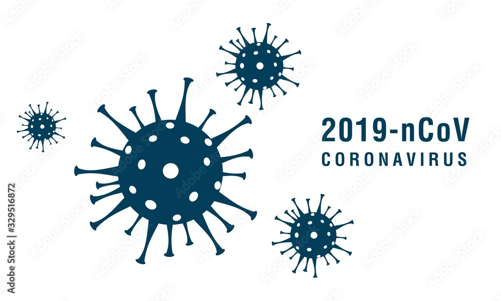 Fototapeta Coronavirus 2019-nCoV. Corona virus icons. Vector illustration