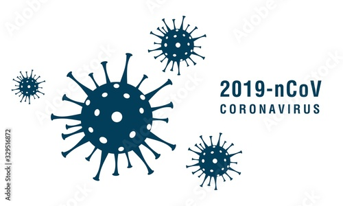 Obraz Coronavirus 2019-nCoV. Corona virus icons. Vector illustration - fototapety do salonu