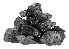 Pile Of Coal Isolated On A Whi...