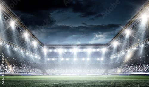 Photo Full night football arena in lights
