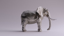 Large Silver Elephant Right Vi...
