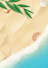 Summer Poster With Top View On...