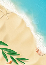 Summer Vertical Banner With To...