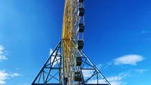 Ferris Wheel. Low Angle View. ...