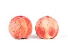 Fresh Peach Isolated On White ...