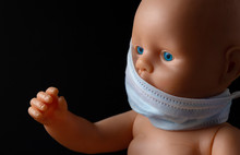 Doll With Blue Eyes In A Medic...