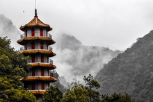 Pagoda In Taiwanese Mountains
