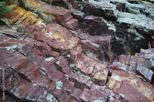 Red geological material Canvas Print