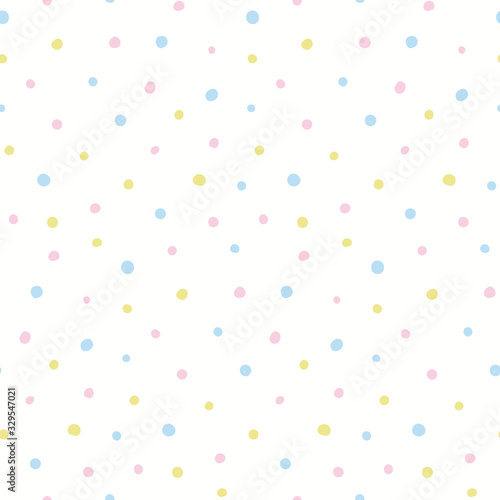 Tapety białe  hand-drawn-seamless-geometric-vector-pattern-pastel-polka-dots-on-white-background-scandinavian-style-flat-design-concept-easter-spring-day-kids-textile-print-wallpaper-wrapping-paper-packaging