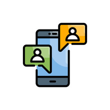 Social Media Filled Outline Icon Vector Illustration