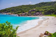 Grand Anse Beach At La Digue I...