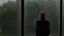 Solo Red Candle Blown Out In F...