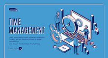 Time Management Landing Page, ...