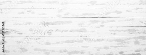 white painted boards, a long banner in the style of shabby