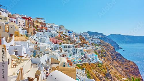 Fototapeta Oia town in Santorini island obraz