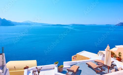Fototapeta View of Aegean Sea from Santorini island obraz